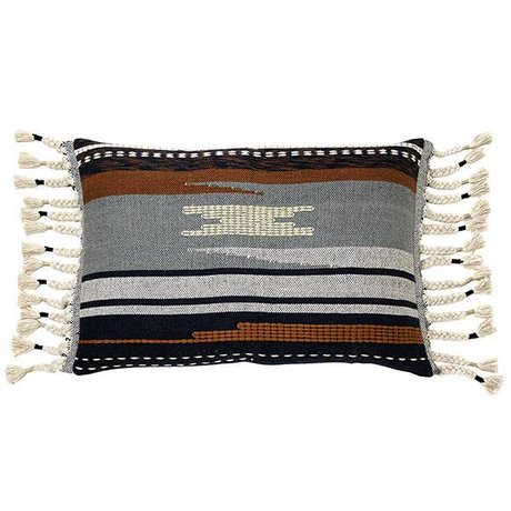 HK-living Aztec Kissen Mehrfarben Baumwolle 50x70cm
