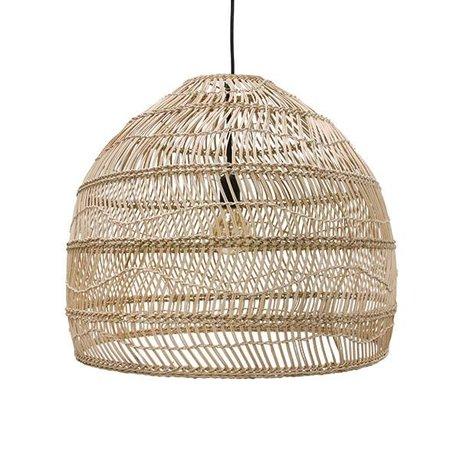 HK-living Lampe à suspension tissée à la main beige roseau 60x60x50cm