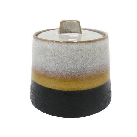 HK-living Sugar Bowl Éléments de type céramiques polychromes de 70
