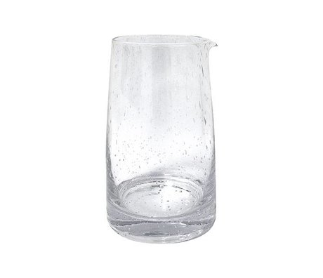 HK-living Karaf 70's transparant glas 11,5x11,5x18,5cm