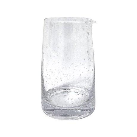 HK-living Karaf 70's transparent glass 11,5x11,5x18,5cm