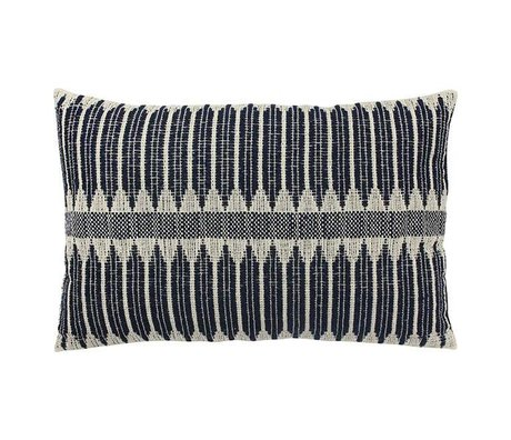 HK-living Cushion Aztec black and white cotton 40x60cm
