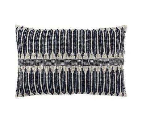 HK-living Cushion Aztec black and white cotton 40x60cm