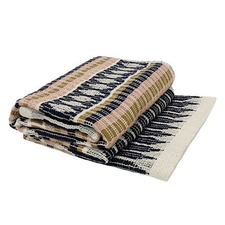 HK-living coton à carreaux aztèque multicouleur 125x150cm
