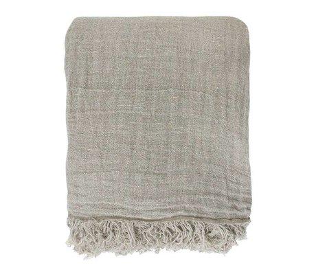 HK-living Bedspread natural linen 270x270cm