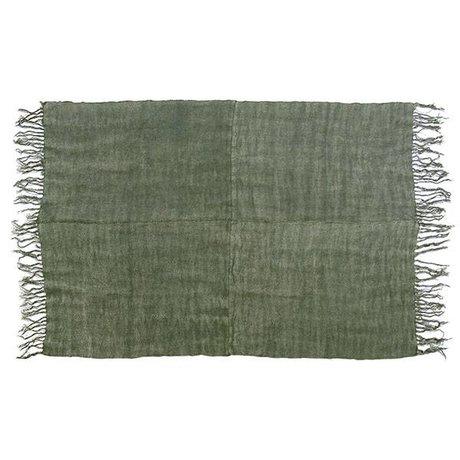HK-living toile verte armée tapis de 155x215cm