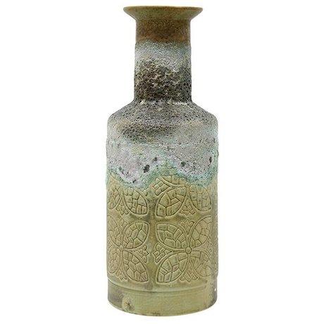 HK-living Vase rétro en céramique polychrome 16x16x41,5cm