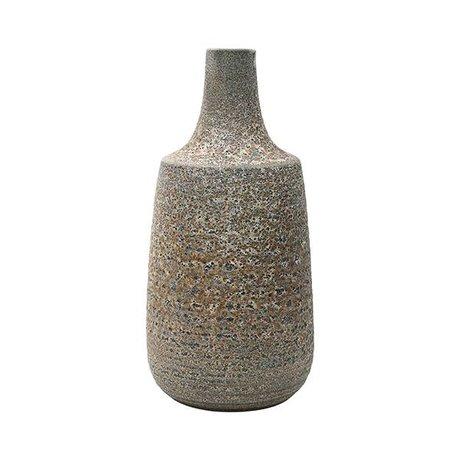 HK-living Vase L céramique brune 18,2x18,2x36cm