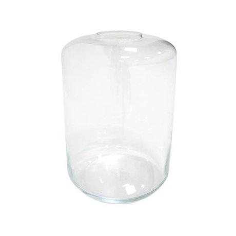 HK-living Vaas mini garden transparant glas 28x28x44cm