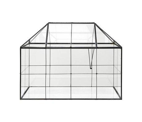 HK-living Mini kas transparant glas metaal 40x24x32cm