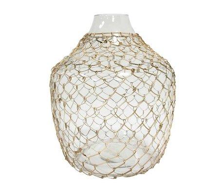 HK-living Vase mit transparentem Glasgeflecht 30x30x32,5cm