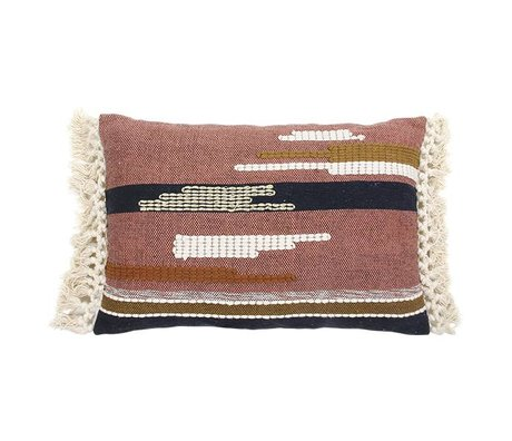 HK-living Cushion Aztec multicolour cotton 40x60cm