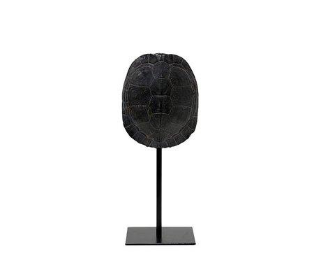 HK-living Künstliche Schildpatt schwarzer Kunststoff 11x10x26,5cm