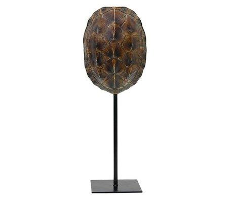 HK-living Artificial turtle shield brown plastic 12,5x10x36cm