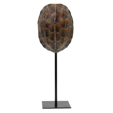 HK-living Bouclier de tortue artificielle en plastique marron 12.5x10x36cm