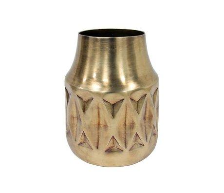 HK-living Vase en laiton en laiton 16,5x16,5x20cm