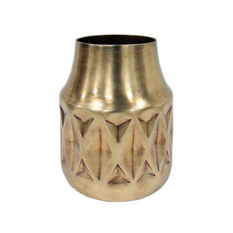 HK-living Vase Messing Messing 16,5x16,5x20cm