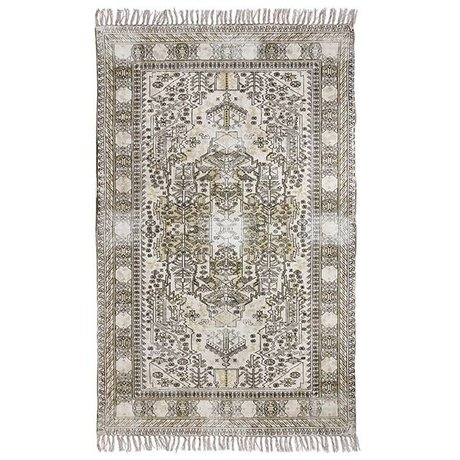 HK-living Carpet extra dyed multicolour cotton 120x180cm