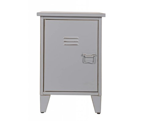 LEF collections Nightstand 'Max' counterclockwise gray 40x35x60, 5cm