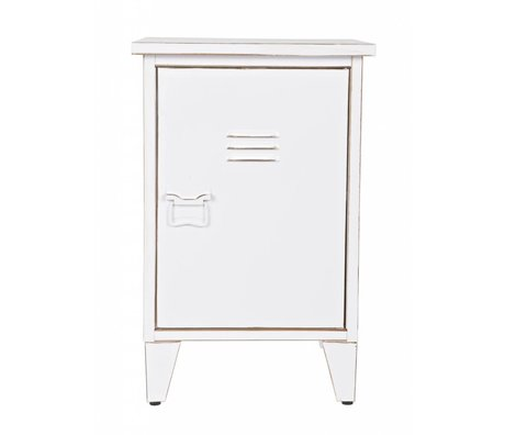 LEF collections Nightstand 'Max' right turning white 40x35x60, 5cm