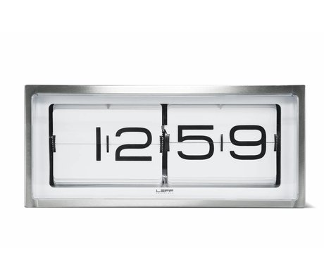 LEFF amsterdam Brick wall clock and table clock white aluminum 36x12, 8x15, 7cm