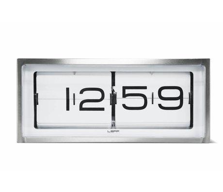 LEFF amsterdam Brick Wanduhr und Tischuhr weiß Aluminium 36x12, 8x15, 7cm