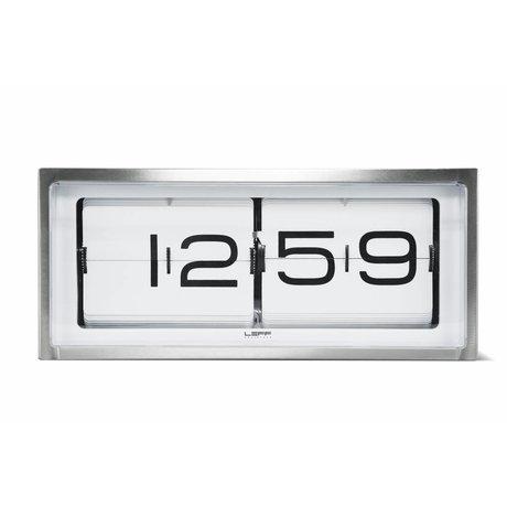 LEFF amsterdam Mur de briques horloge et horloge de table en aluminium blanc 36x12, 8x15, 7cm