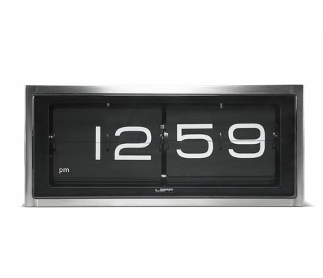LEFF amsterdam Brick wall clock and table clock aluminum black 36x12, 8x15, 7cm