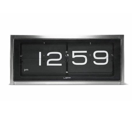 LEFF amsterdam Klok Brick wand en tafelklok aluminium zwart 36x12,8x15,7cm