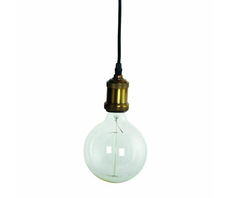 Housedoctor Fly hanging lamp, brass fitting with gold cord ø4,5x14cm