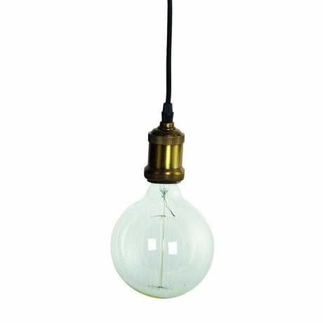 Housedoctor Fly lampe suspendue, raccord en laiton avec cordon d'or ø4,5x14cm