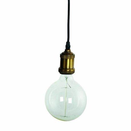 Housedoctor Hanglamp Fly, brass gouden fitting met snoer ø4,5x14cm