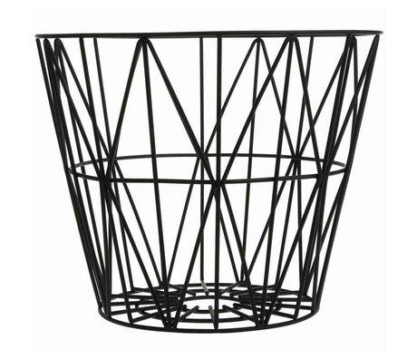 Ferm Living Basket black iron 3 sizes 40x35cm, 50x40cm, 60x45cm Wirebasket