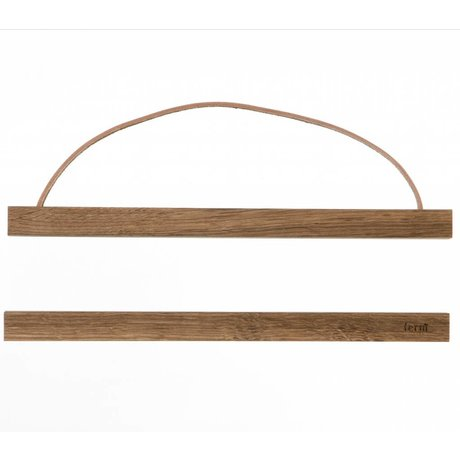 Ferm Living Ophangsysteem voor posters Smoked oak hout 31x2cm
