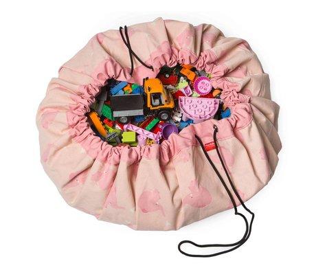 Play & Go Storage Bag / Toy Pink Elephant by ALLC Pink Cotton Ø140cm