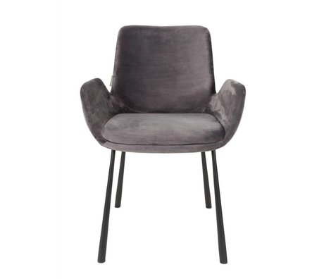 Zuiver Dining chair Brit british gray polyester 59x62x79cm