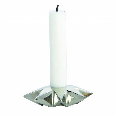 Housedoctor Candlestick 'Star' Aluminium silber Ø9.5xh2.5 cm