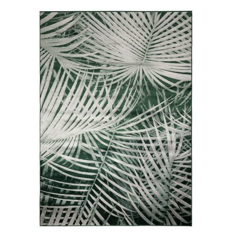 Zuiver Floor cover Palm by day green textile 300x200cm