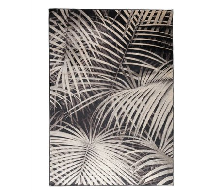 Zuiver Rug Palm par nuit 300x200cm textile noir
