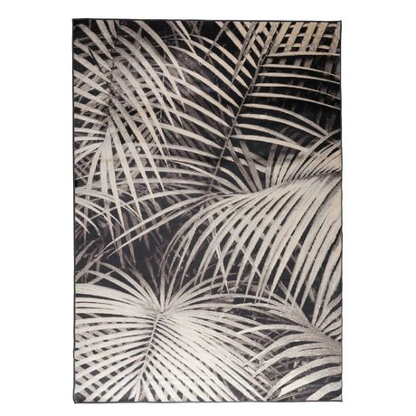 Zuiver Floor cover Palm by night black textile 300x200cm