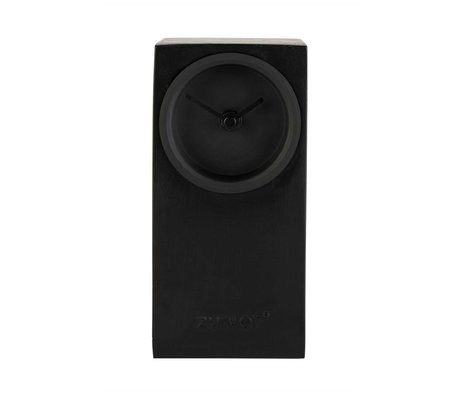 Zuiver Table clock Brick black metal 9x9x19cm