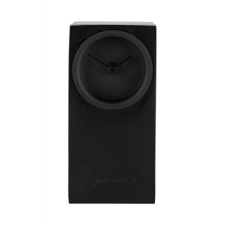 Zuiver Horloge de table Brique 9x9x19cm en métal noir
