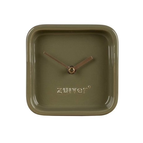 Zuiver Clock Cute green ceramic 13,5x6x13,5cm