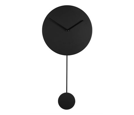 Zuiver Horloge murale minimale de 30x4x63cm en plastique noir