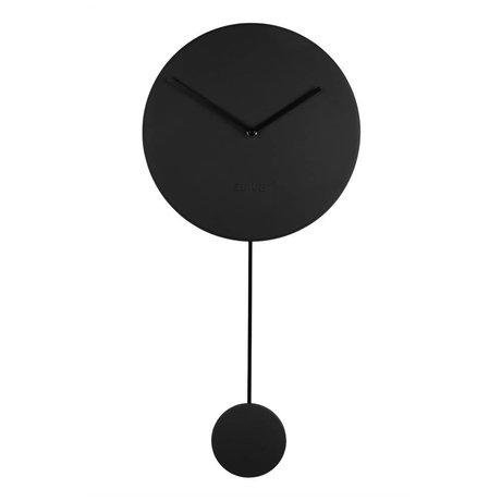 Zuiver Wandklok Minimal zwart kunststof 30x4x63cm