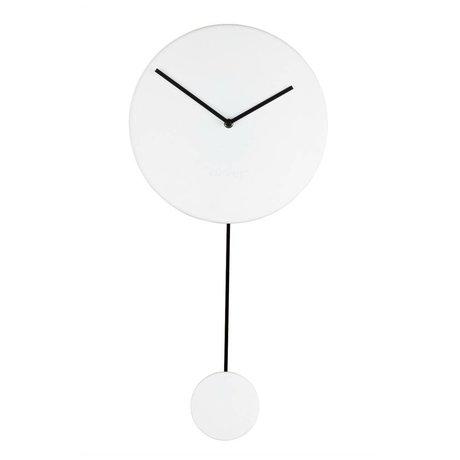 Zuiver Horloge murale minimale de 30x4x63cm en plastique blanc