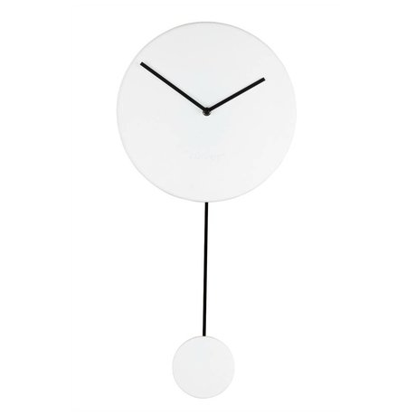 Zuiver Wall clock Minimal white plastic 30x4x63cm