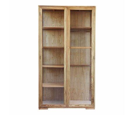 Housedoctor Cabinet brun naturel chêne 120x55x220cm