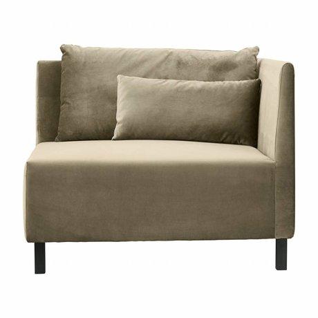 Housedoctor Hoeksofa 2 cushions box zand polyester 100x100x75cm