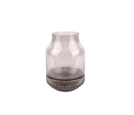 pt, Vase Save gray glass Ø16x23,5cm